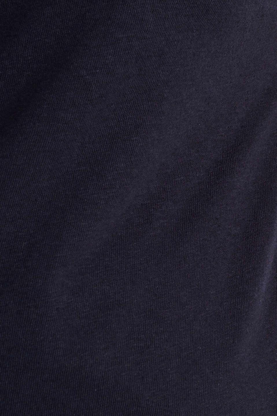 Linen blend: Stretchy top, NAVY, detail image number 4