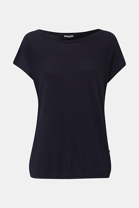 Linen blend: Stretchy top