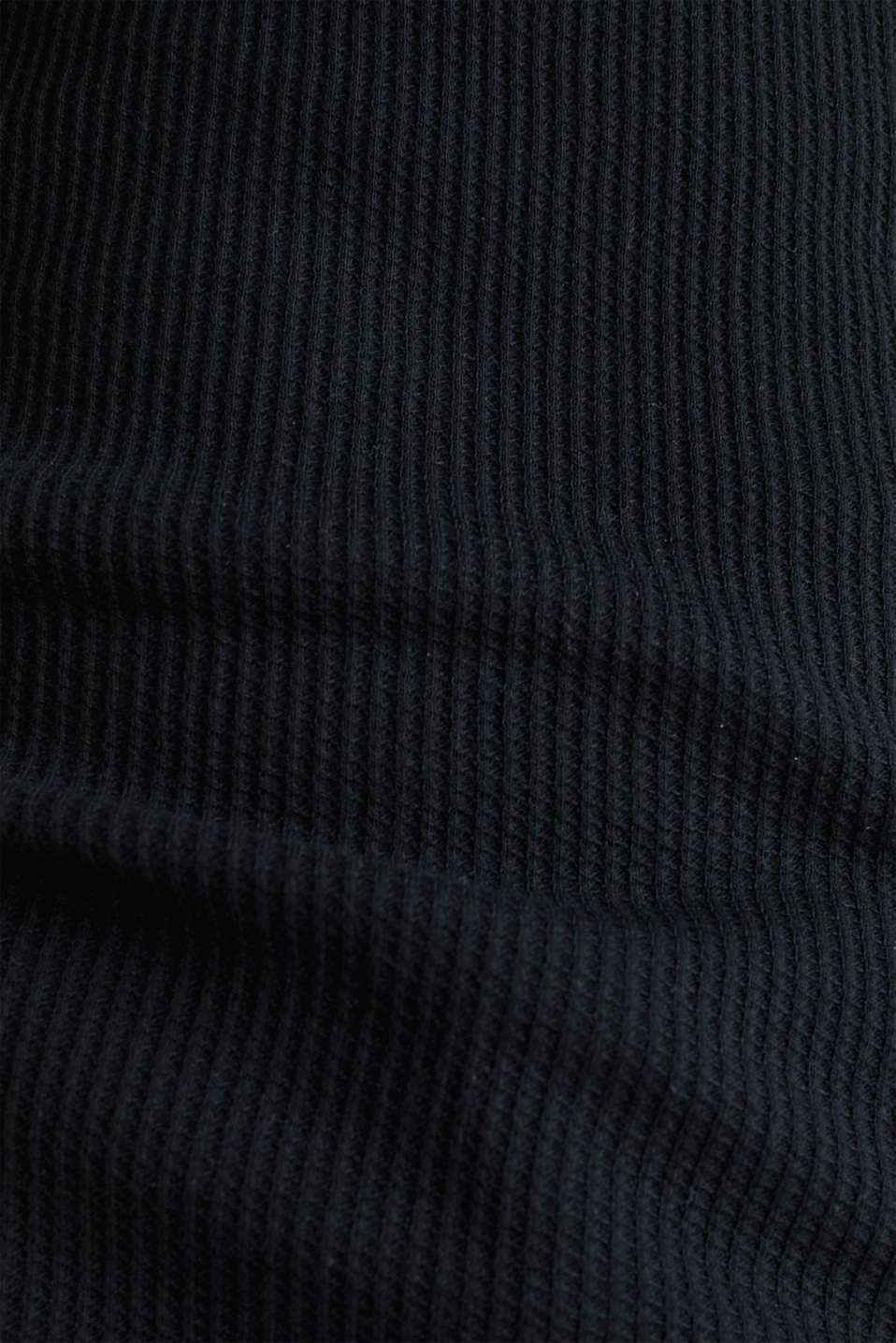 Textured top ,100% organic cotton, BLACK, detail image number 3