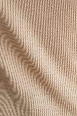 Textured top ,100% organic cotton, BEIGE, detail