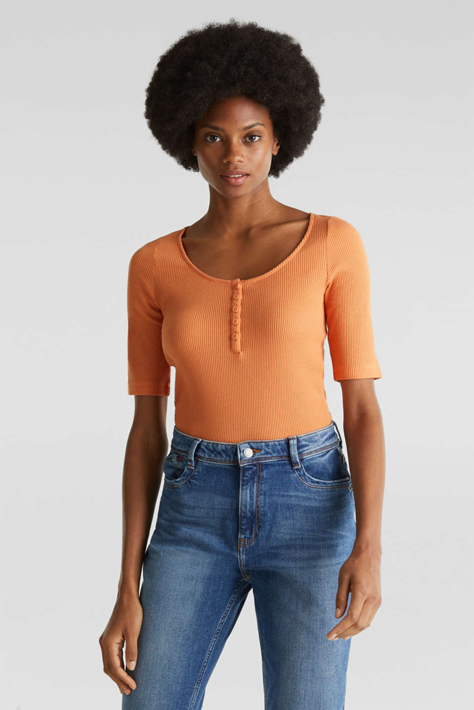 Esprit - Textured top ,100% organic cotton