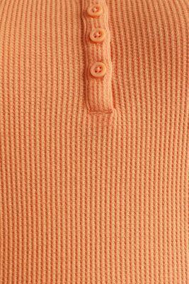 Textured top ,100% organic cotton, RUST ORANGE, detail
