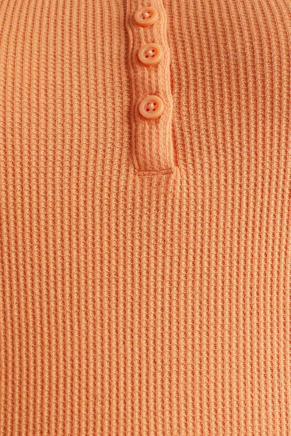 Textured top ,100% organic cotton, RUST ORANGE, detail image number 4