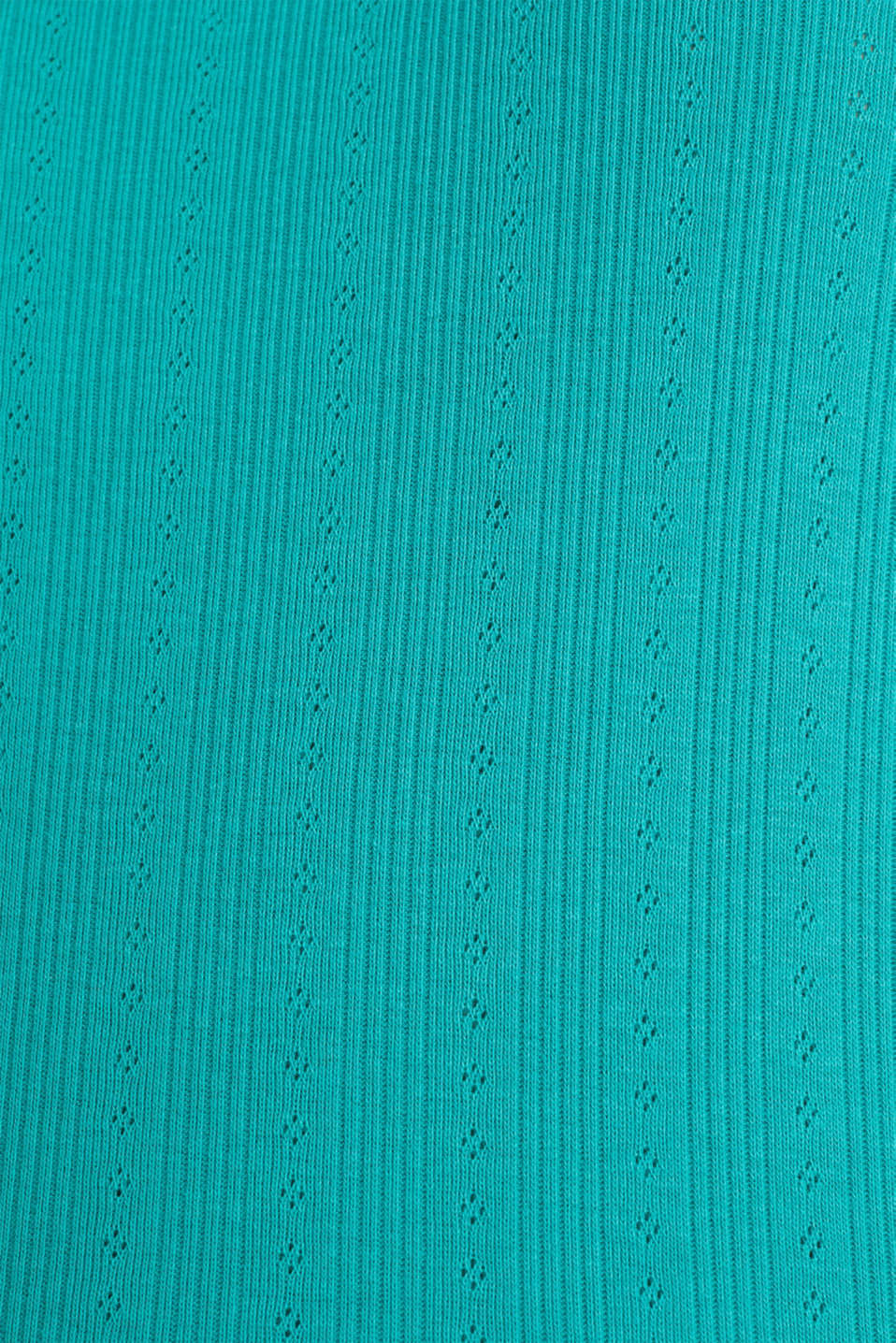 Openwork pattern top made of organic cotton, TEAL GREEN, detail image number 3