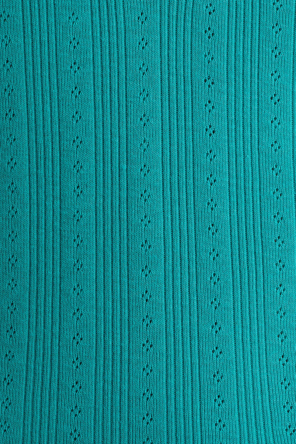Openwork top, 100% organic cotton, TEAL GREEN, detail image number 2