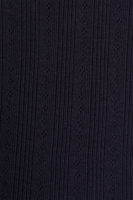 Openwork top, 100% organic cotton, NAVY, detail