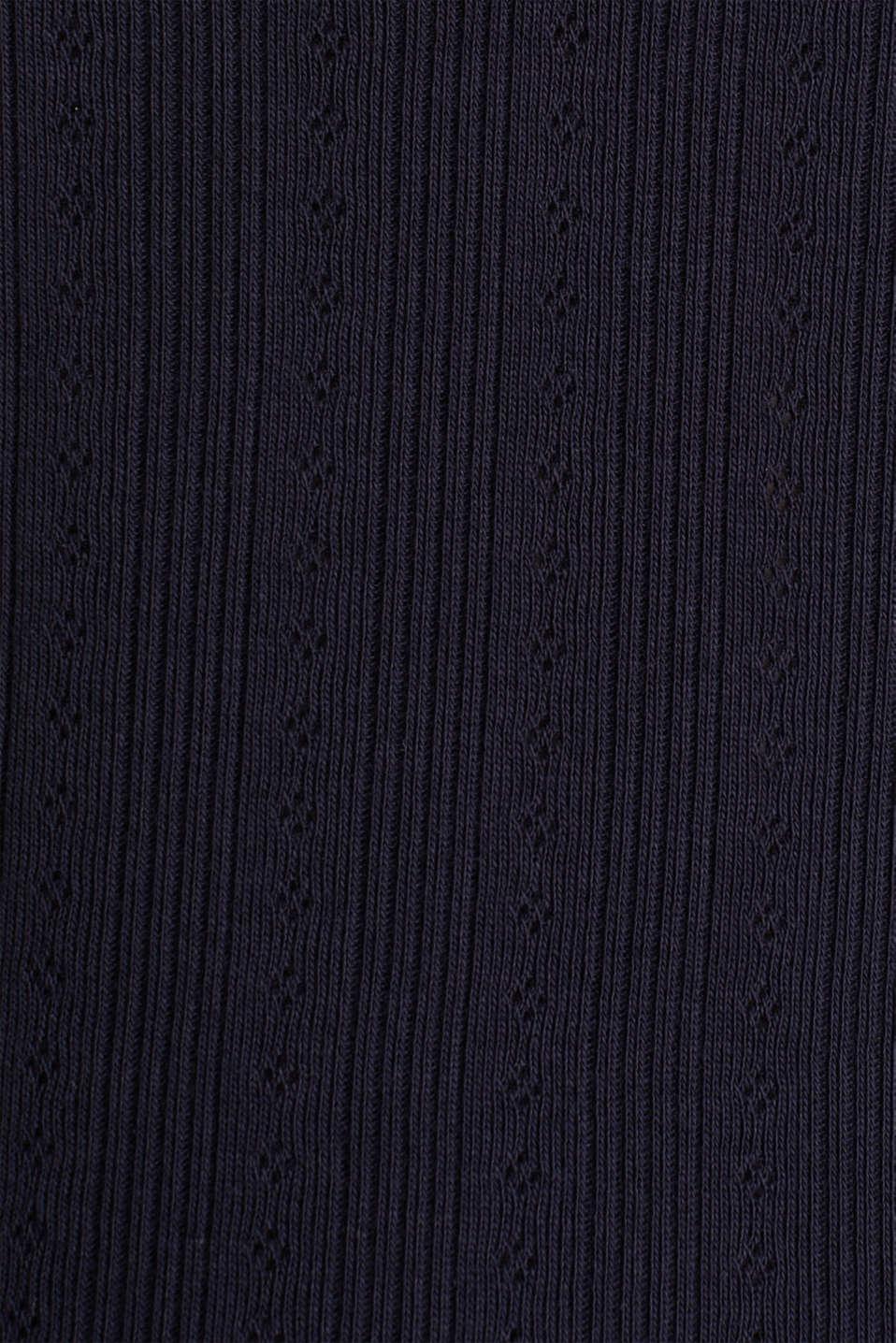 Openwork top, 100% organic cotton, NAVY, detail image number 4