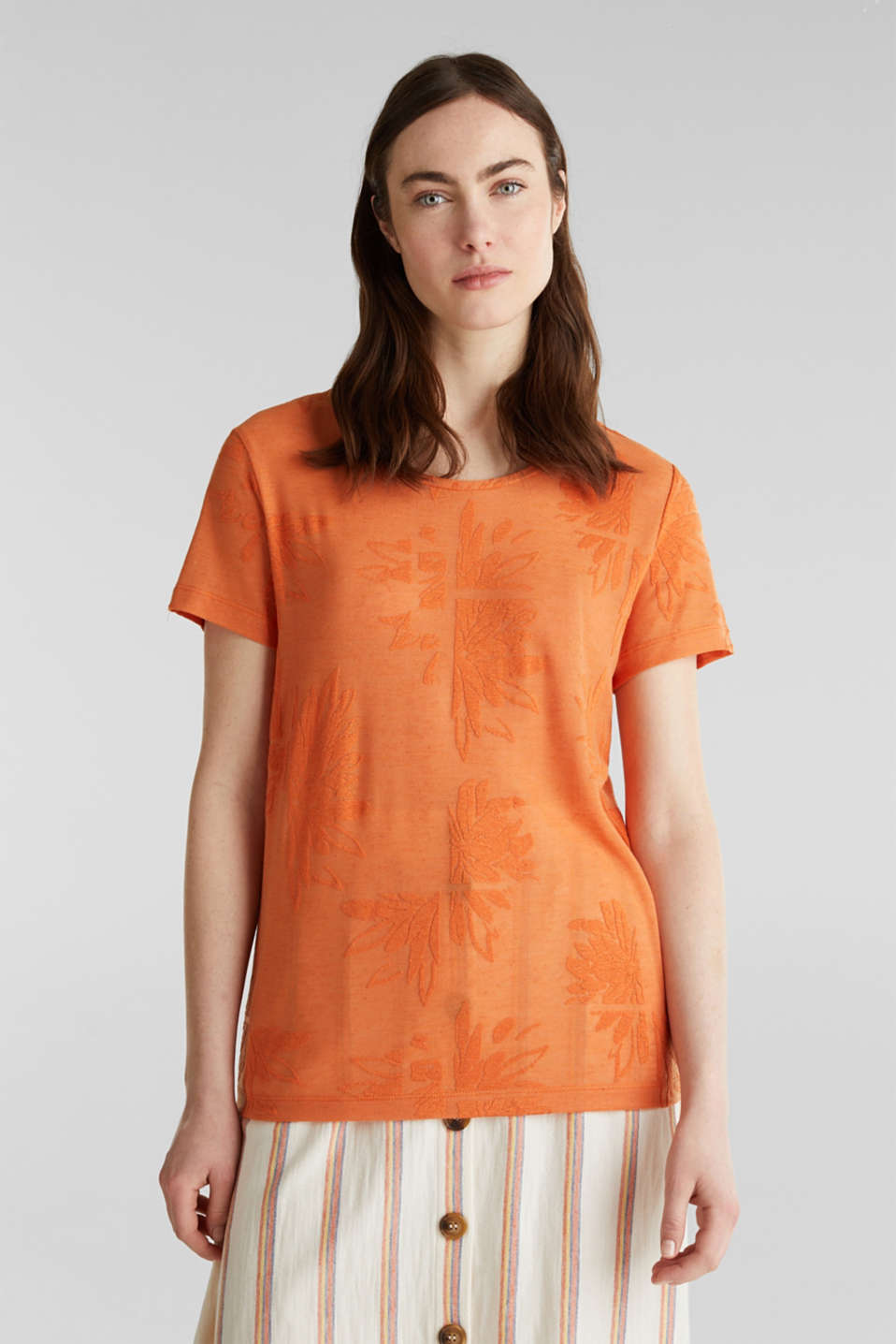 Esprit - Met linnen: burnt-out shirt