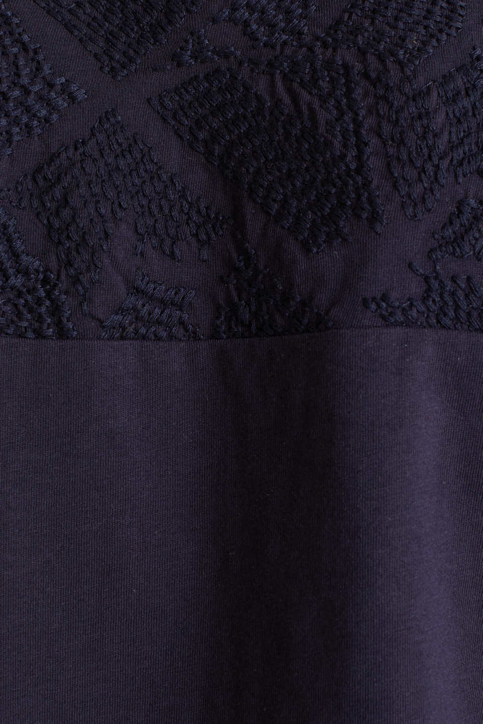 T-shirt with embroidery, 100% organic cotton, NAVY, detail image number 4