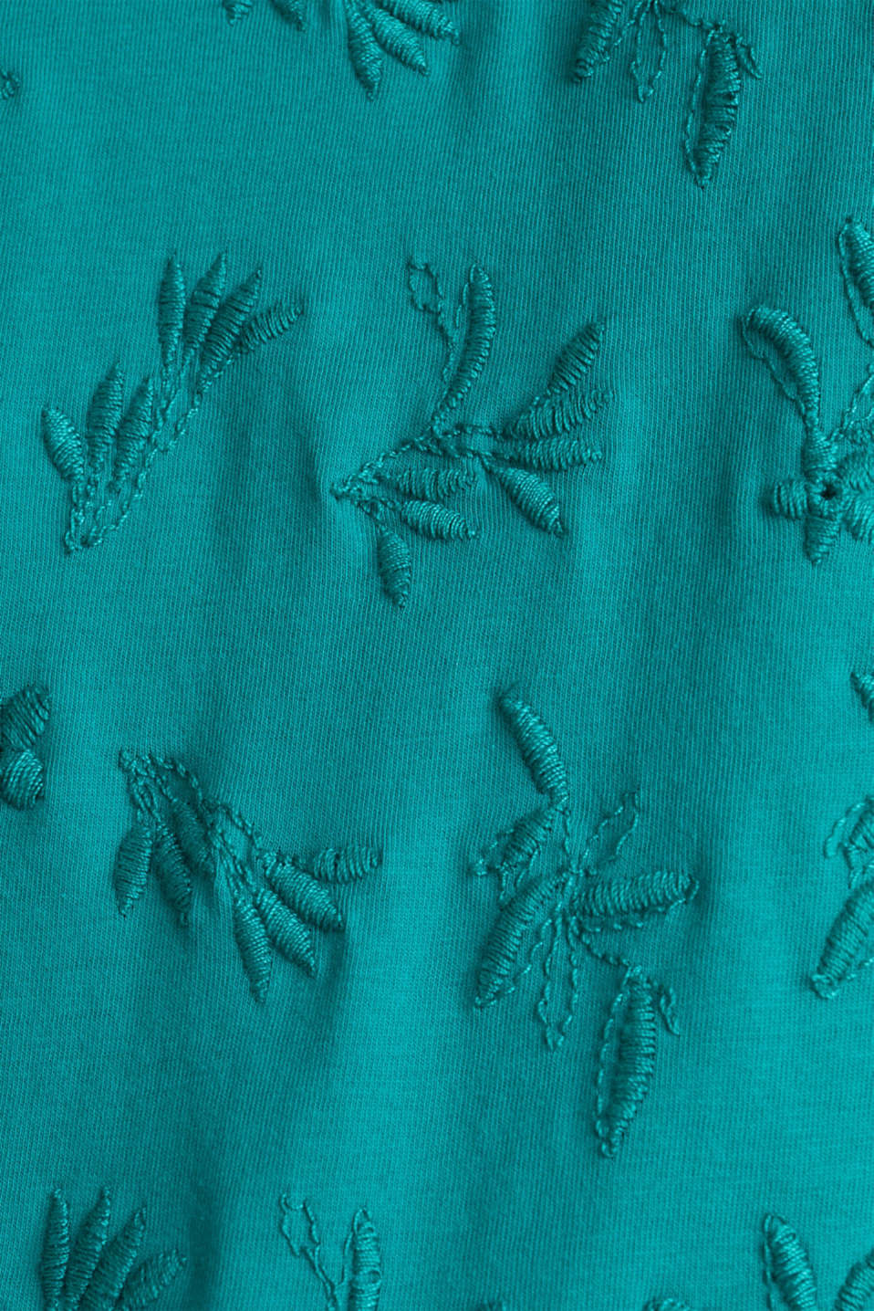 T-shirt with tonal embroidery, 100% organic cotton, TEAL GREEN, detail image number 4