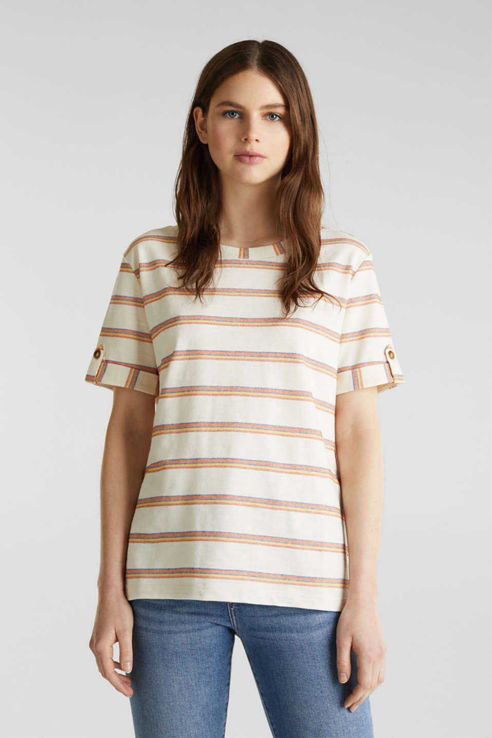 Esprit - Textured top with sleeve straps