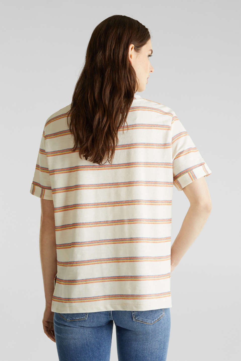 Textured top with sleeve straps, RUST ORANGE, detail image number 3
