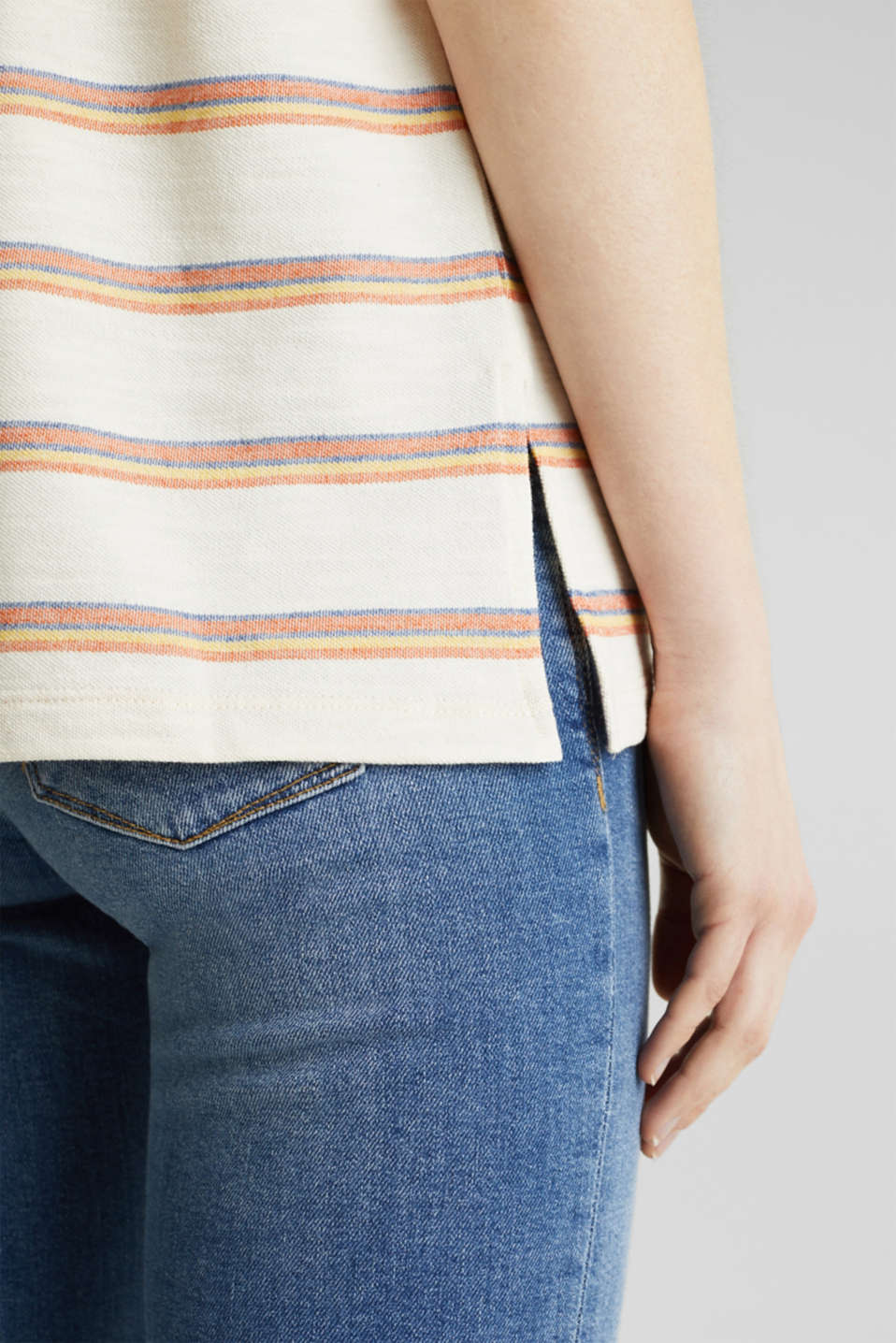 Textured top with sleeve straps, RUST ORANGE, detail image number 5