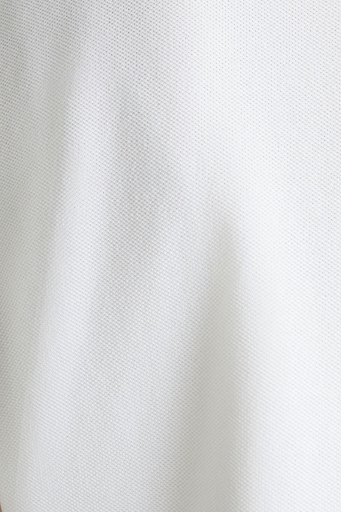 Piqué poloshirt van katoen-stretch, WHITE, detail image number 4