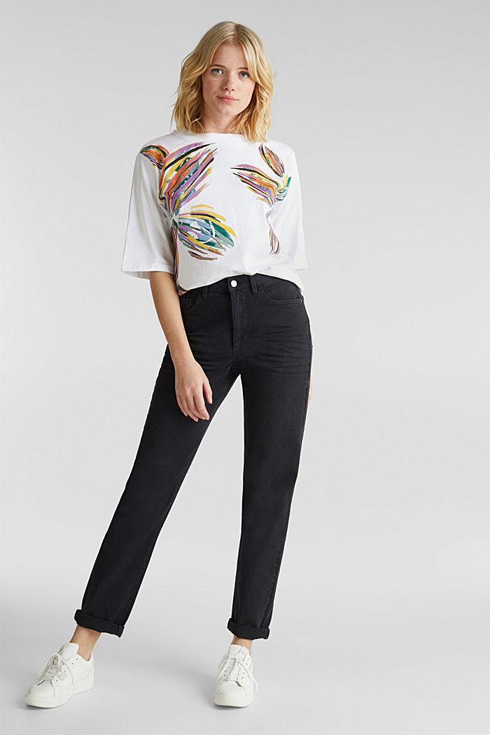 Shirt mit Blumen-Print, 100% Organic Cotton, WHITE COLORWAY, detail image number 1