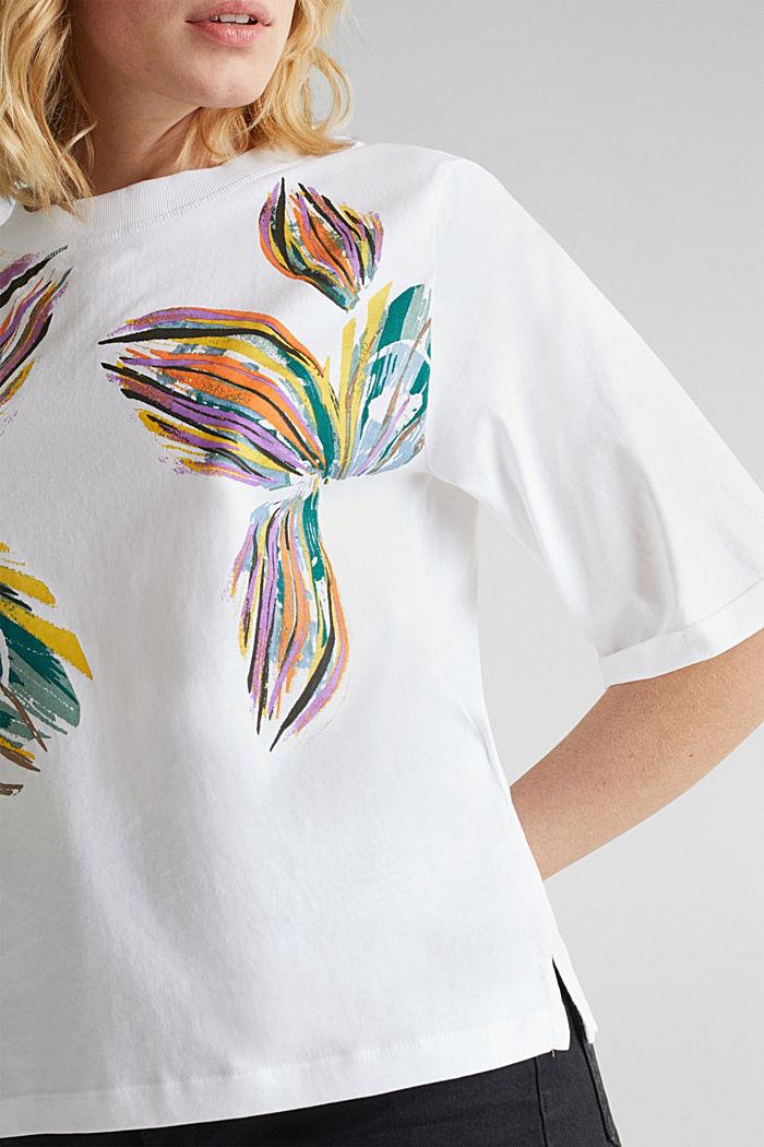 Shirt mit Blumen-Print, 100% Organic Cotton, WHITE COLORWAY, detail image number 2