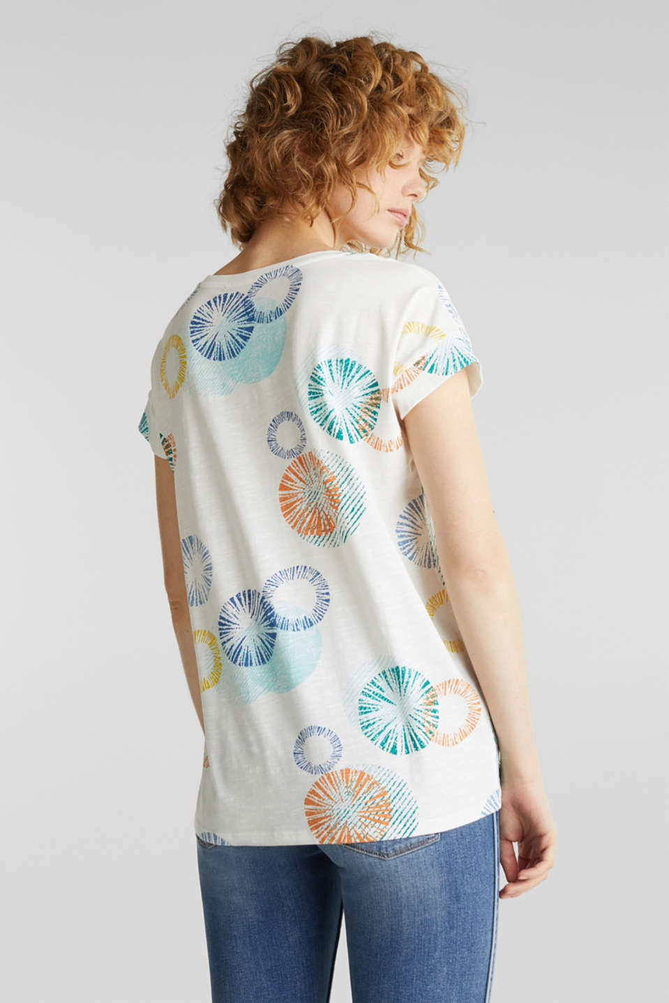 Printed T-shirt in 100% organic cotton, OFF WHITE, detail image number 3