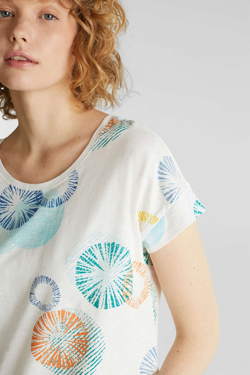 Printed T-shirt in 100% organic cotton, OFF WHITE, detail image number 2