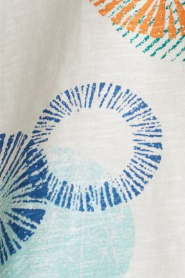 Printed T-shirt in 100% organic cotton, OFF WHITE, detail