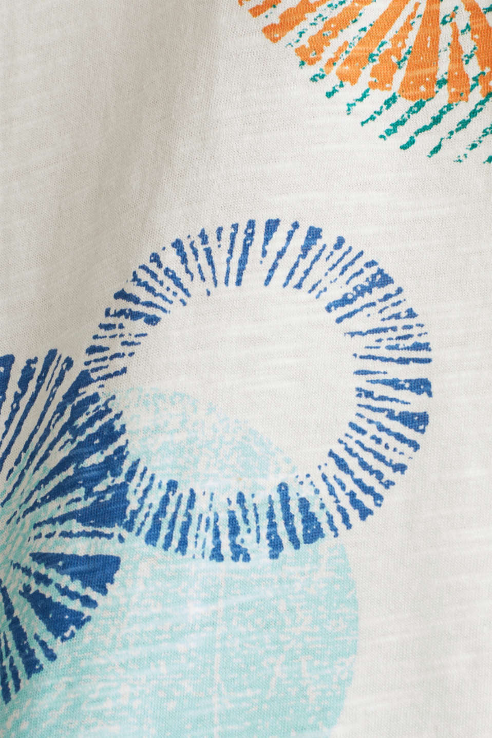 Printed T-shirt in 100% organic cotton, OFF WHITE, detail image number 4
