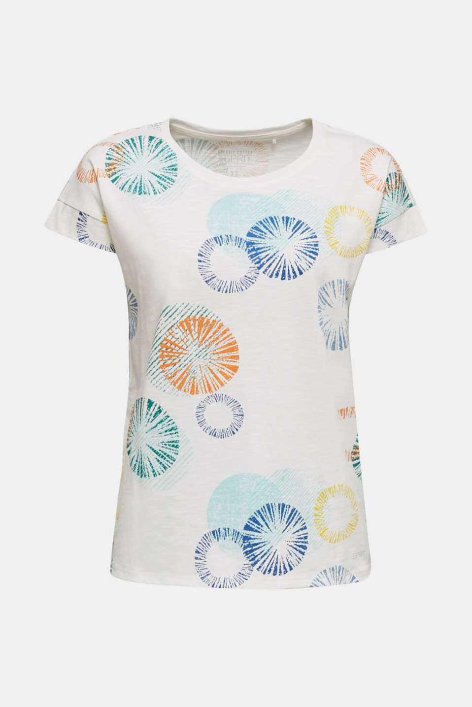 Printed T-shirt in 100% organic cotton, OFF WHITE, detail image number 7