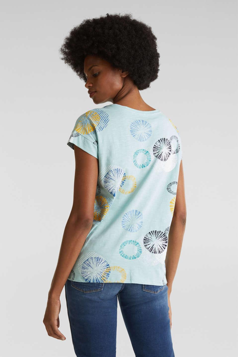 Printed T-shirt in 100% organic cotton, LIGHT AQUA GREEN, detail image number 2