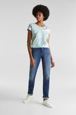 Printed T-shirt in 100% organic cotton, LIGHT AQUA GREEN, detail