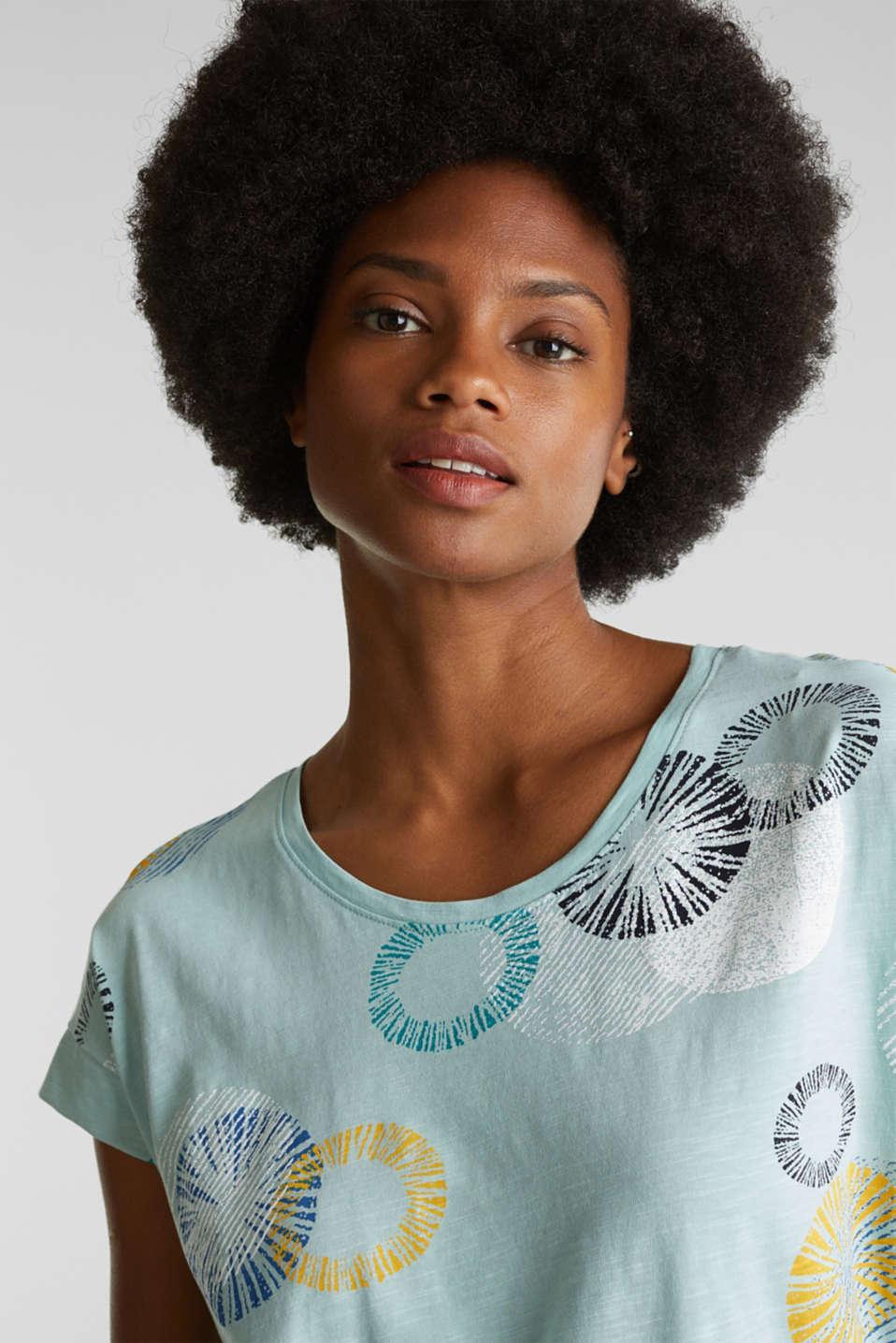 Printed T-shirt in 100% organic cotton, LIGHT AQUA GREEN, detail image number 5