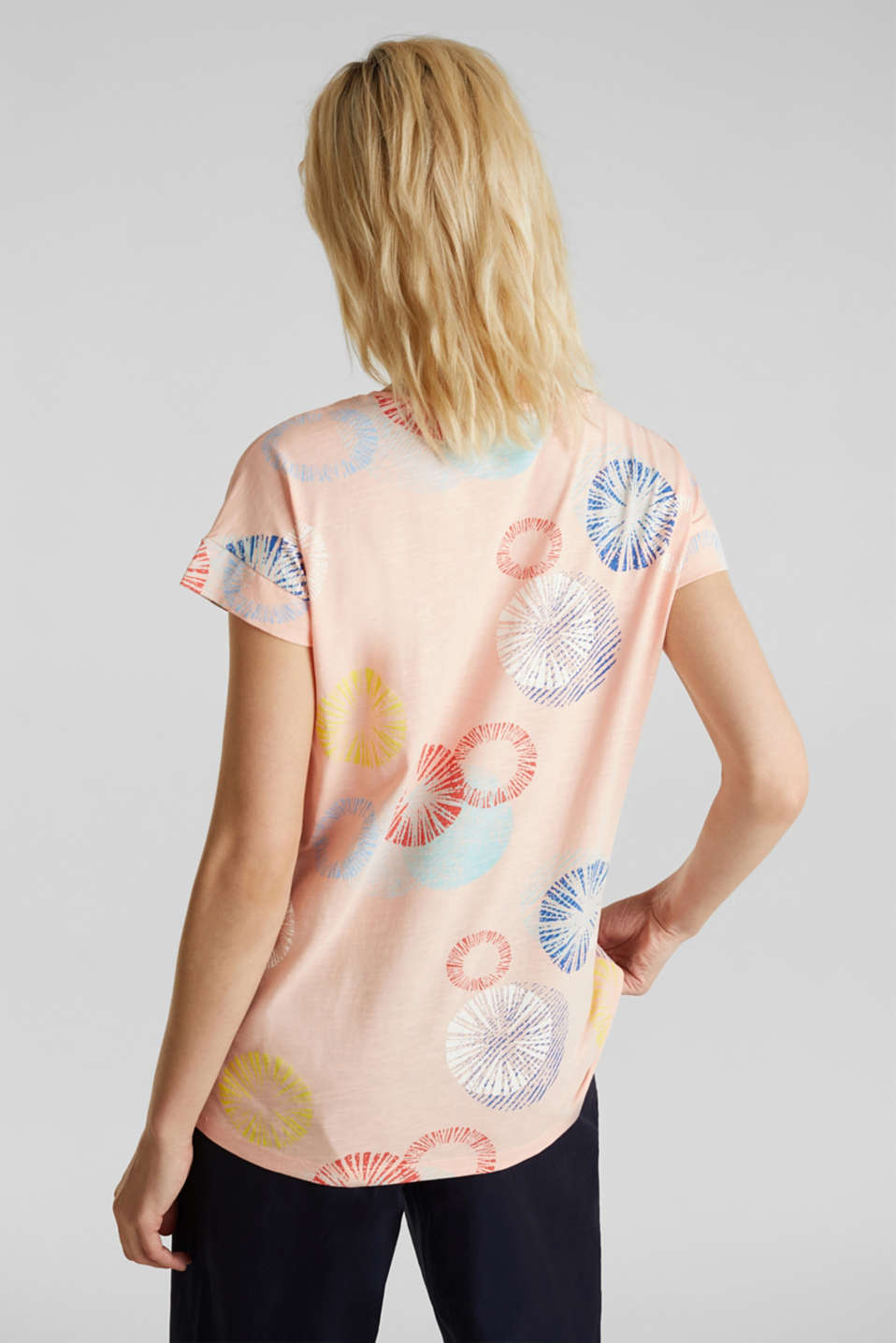 Printed T-shirt in 100% organic cotton, PEACH, detail image number 3