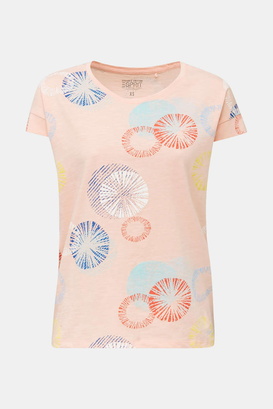Printed T-shirt in 100% organic cotton, PEACH, detail image number 6
