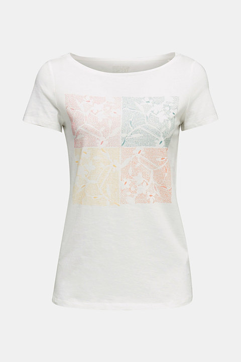 Top with a glitter print, 100% organic cotton