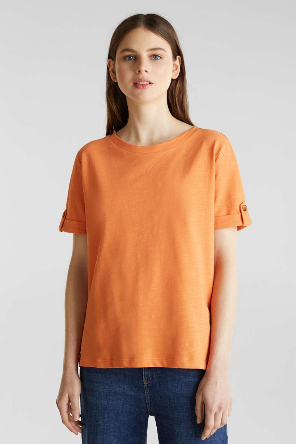 Piqué-Shirt aus 100% Baumwolle, RUST ORANGE, detail image number 0
