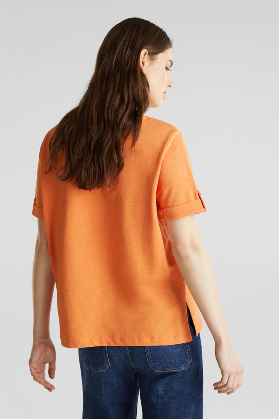 Piqué-Shirt aus 100% Baumwolle, RUST ORANGE, detail image number 3
