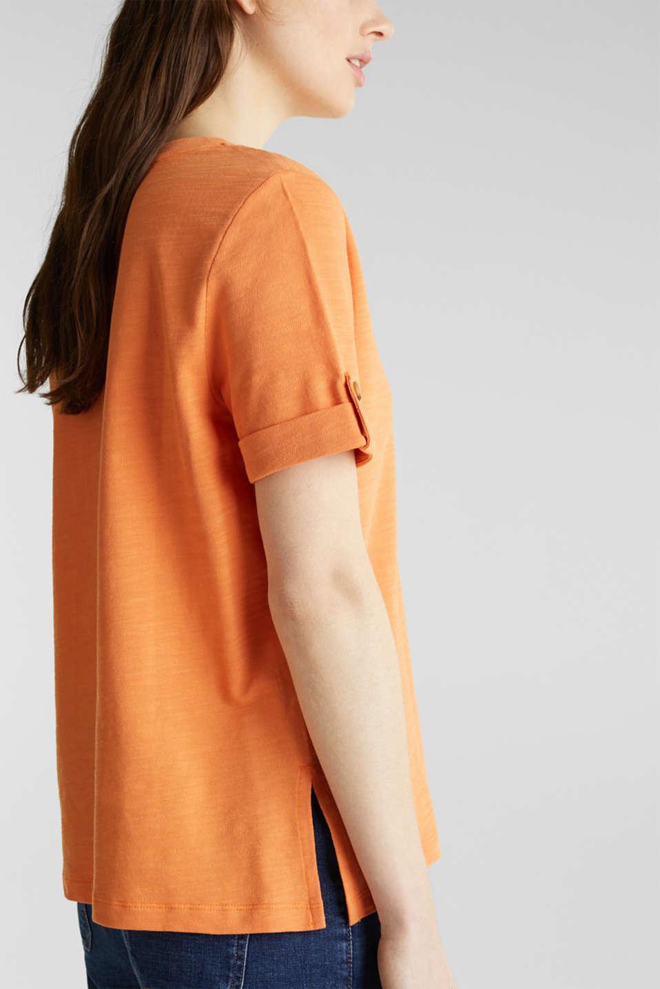 Piqué-Shirt aus 100% Baumwolle, RUST ORANGE, detail image number 5