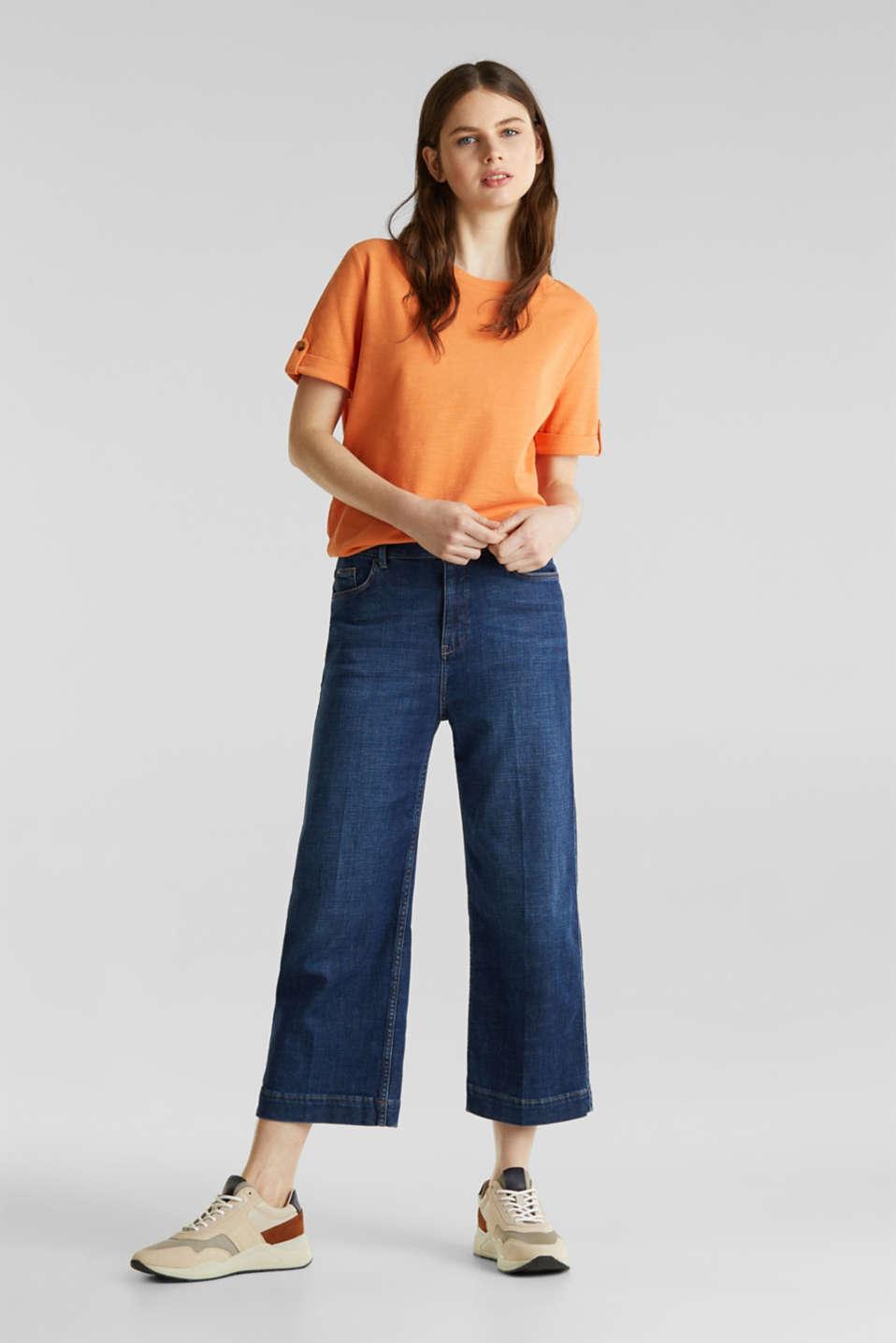 Piqué-Shirt aus 100% Baumwolle, RUST ORANGE, detail image number 1