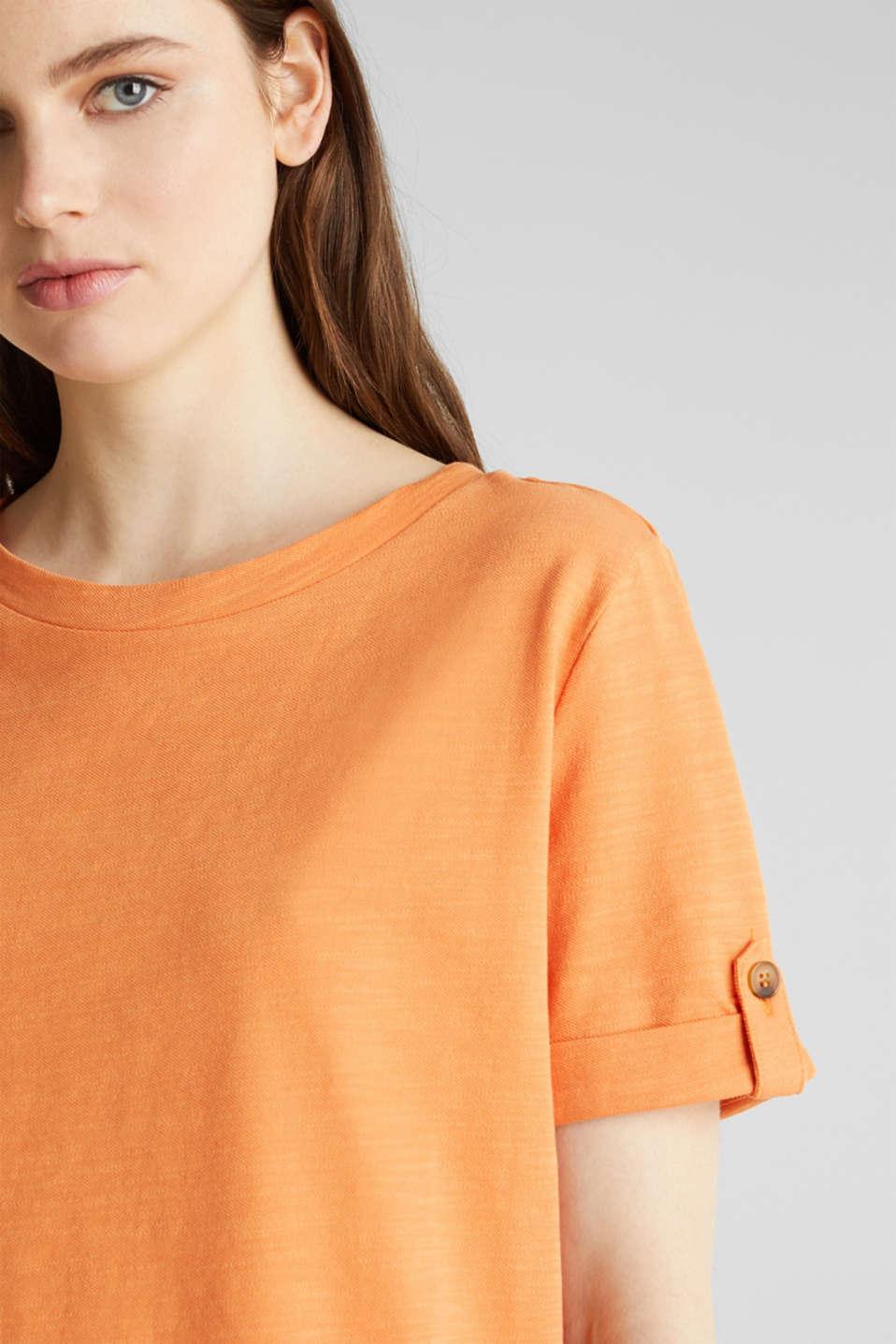 Piqué-Shirt aus 100% Baumwolle, RUST ORANGE, detail image number 2