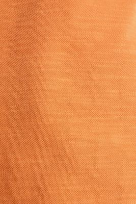 Piqué T-shirt in 100% cotton, RUST ORANGE, detail