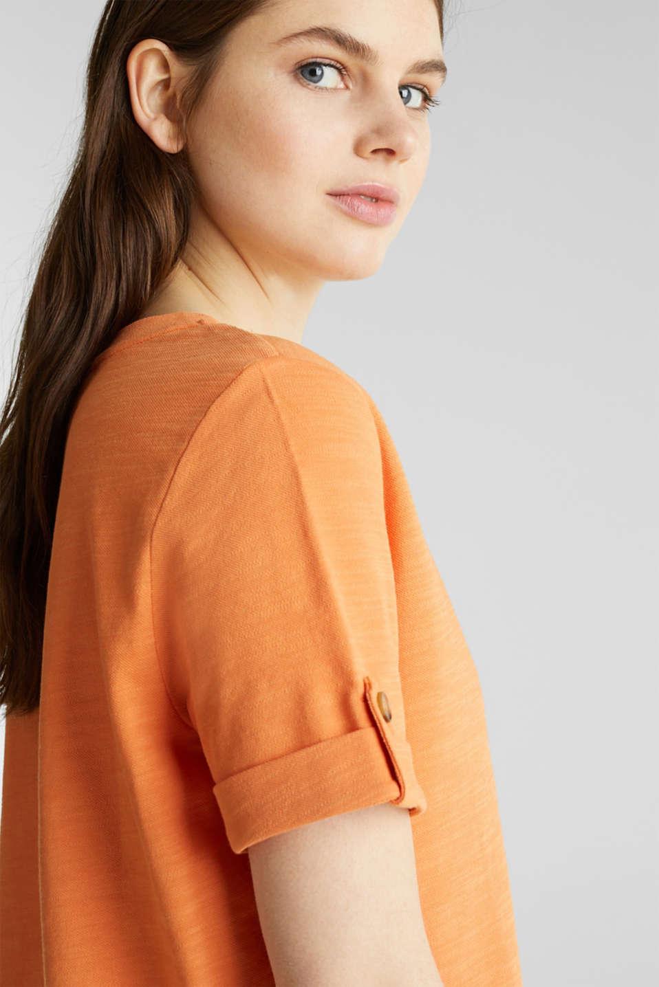 Piqué-Shirt aus 100% Baumwolle, RUST ORANGE, detail image number 6
