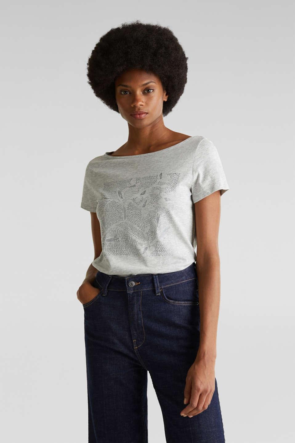 Esprit Melange Shirt mit Glitzer Print im Online Shop kaufen