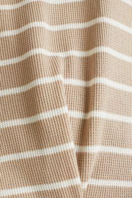 Piqué T-shirt with a casual cut, 100% cotton, BEIGE, detail