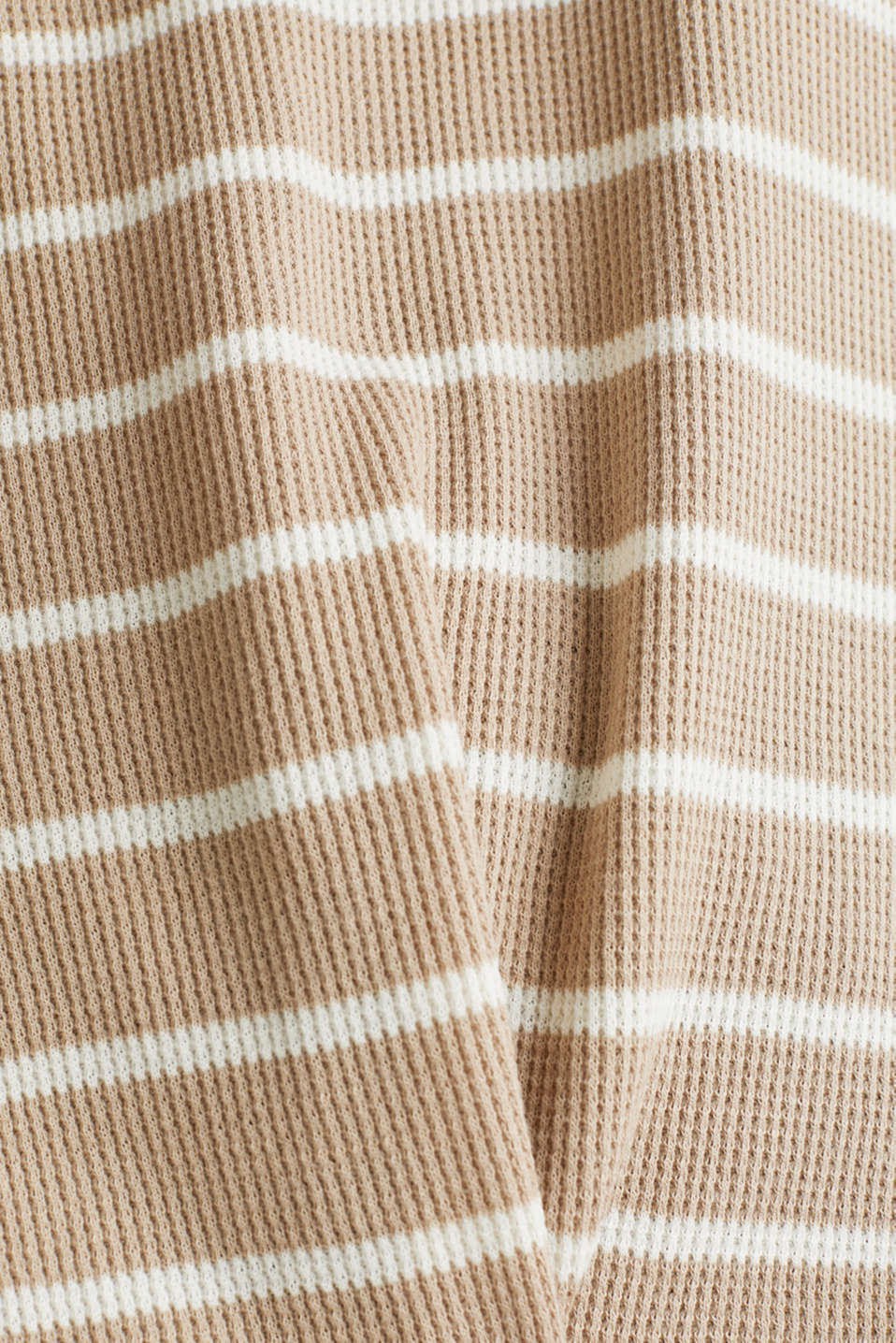 Piqué T-shirt with a casual cut, 100% cotton, BEIGE, detail image number 4