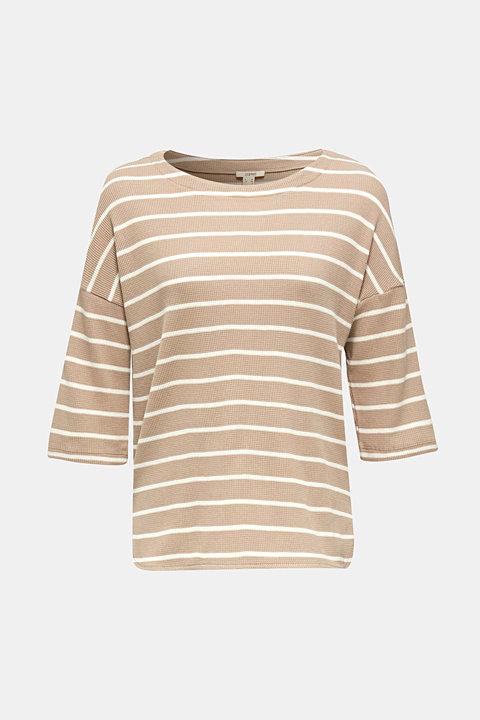 Piqué T-shirt with a casual cut, 100% cotton