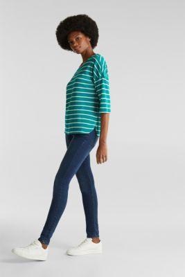 Piqué T-shirt in 100% cotton, TEAL GREEN, detail