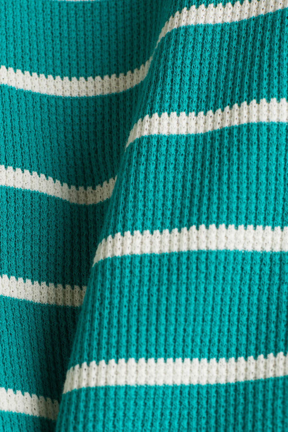 Piqué T-shirt in 100% cotton, TEAL GREEN, detail image number 4