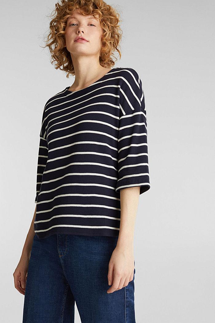 Piqué T-shirt in 100% cotton, NAVY, detail image number 0