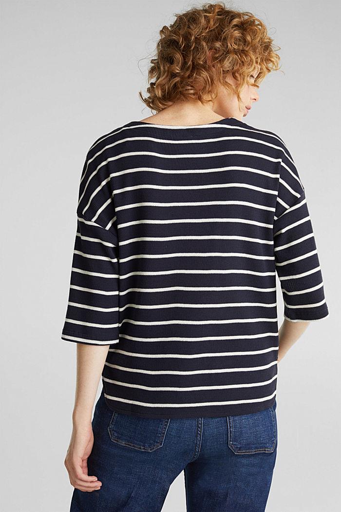 Piqué T-shirt in 100% cotton, NAVY, detail image number 3