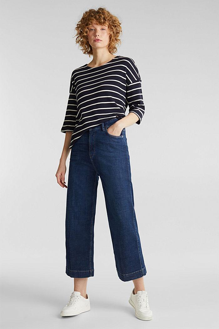 Piqué T-shirt in 100% cotton, NAVY, detail image number 1