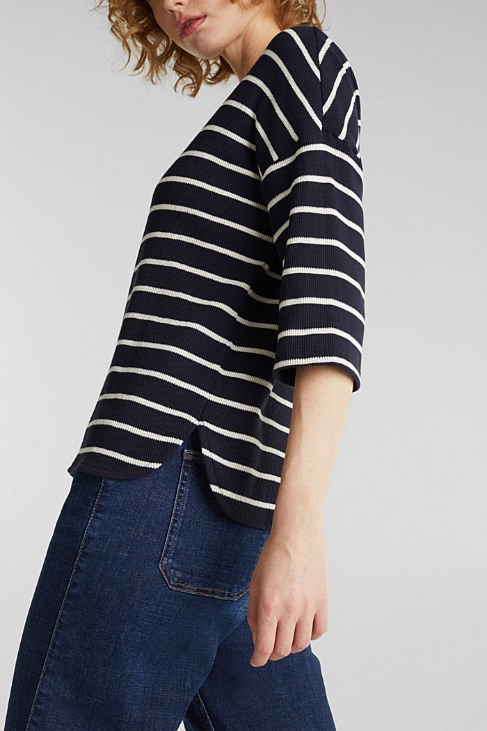 Piqué T-shirt in 100% cotton, NAVY, detail image number 2