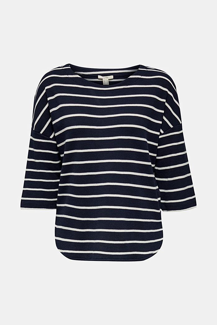 Piqué T-shirt in 100% cotton, NAVY, detail image number 6