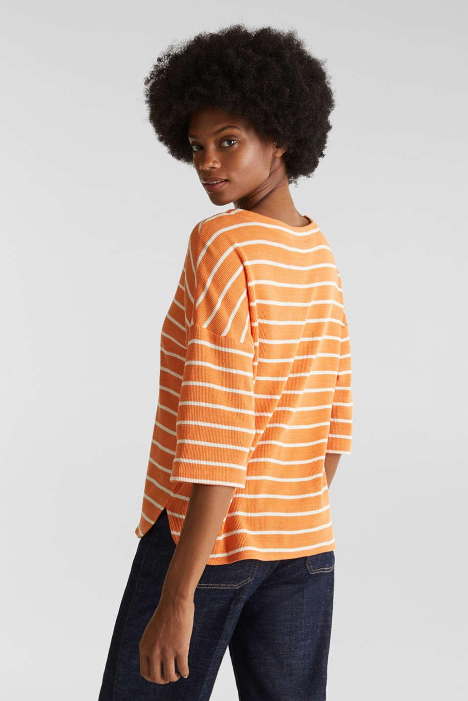 Piqué T-shirt in 100% cotton, RUST ORANGE, detail image number 3
